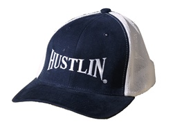 Hustlin New Age Trucker Hat Navy/White w/ White Logo