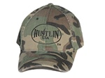 Original Hustlin Baseball Hat -Green Camo Hat