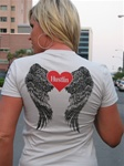 Hustlin USA Girly Angel Wings (Grey)