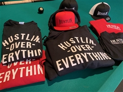 Hustlin Over Everything Hooded Sweat Shirt