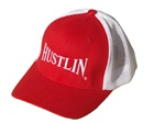 Hustlin New Age Trucker Hat Red/White w/ White Logo