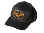 Original Hustlin USA Baseball Hat (Black with Orange Logo)